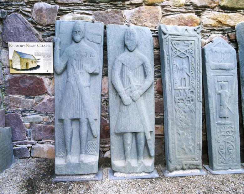 Sculptured Grave Stones In Kilmory Knap Chapel Kilmory Knapdale Argyll