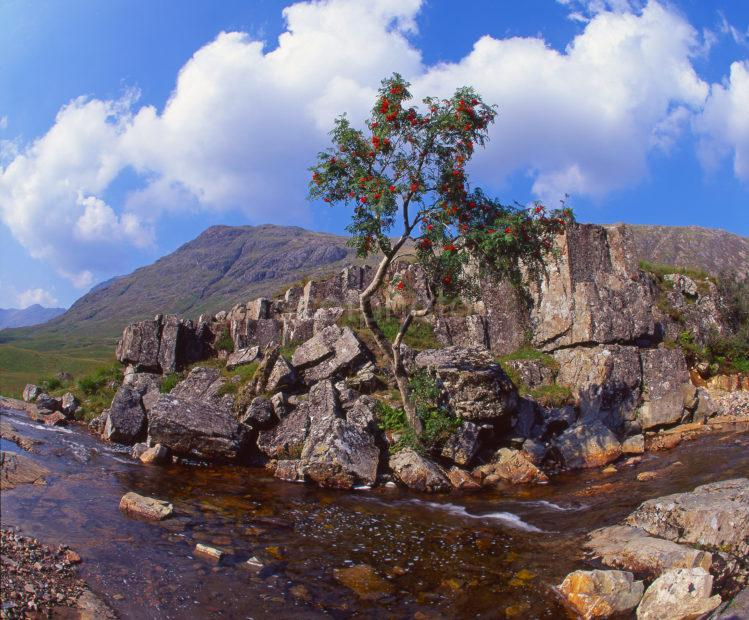 Interesting Rocky Outcrop At The Summit Of The Pass Of Glencoe River Coe West Highlands