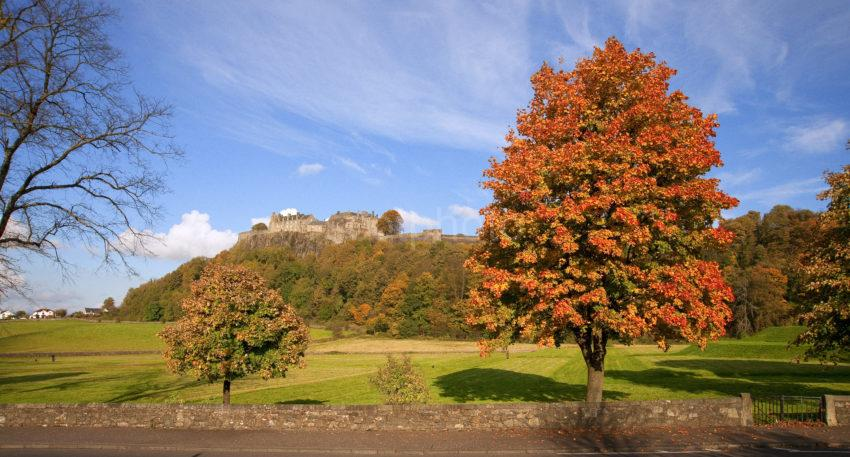 Panoramic Autumn View Stirling Castle