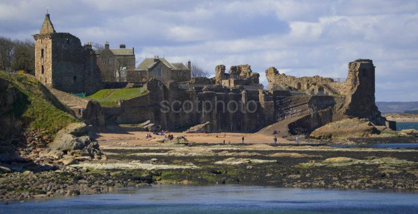 WY3Q9494 St Andrews Castle Ruins St Andrews Fife