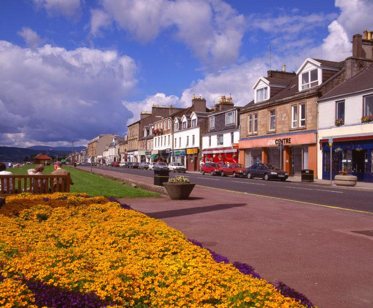Helensburgh Seafront And Promenade The Clyde Strathclyde