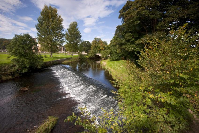 The River Lossie Elgin Cathedral Moray