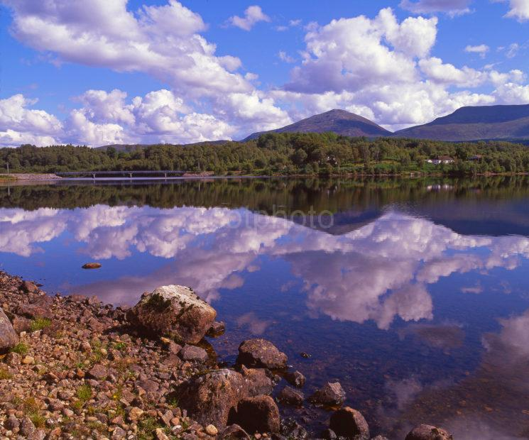 Peaceful Reflections On Loch Garry Near Inshlaggan Lochaber West Highlands