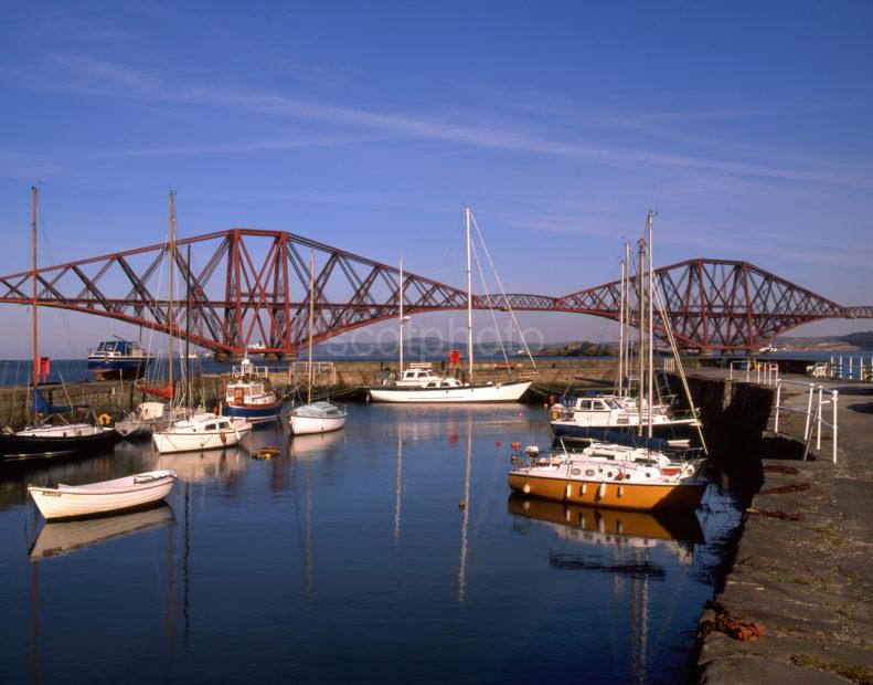 Forth Rail Bridge From South Queensferry Harbour
