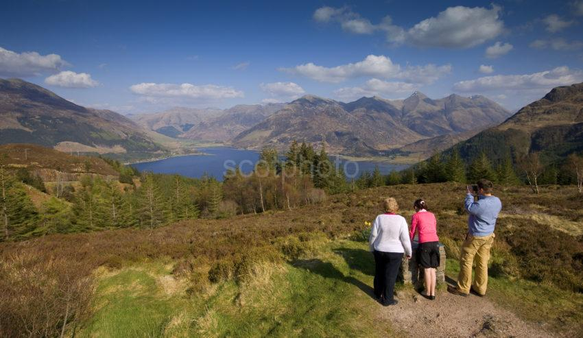 View From Summit Of Mam Ratachan To Loch Duich With Kintail Hills