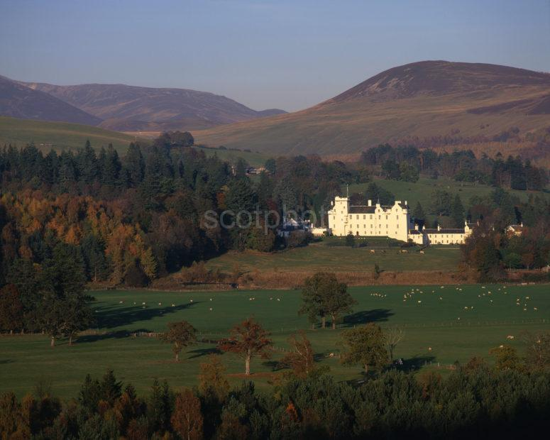 Lovely Autumn Colours Around Blair Castle Nr Blair Atholl Perthshire