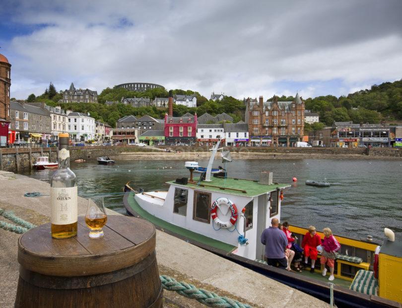 I5D1574 Landscape Of Oban Whisky From N Pier On Barrel
