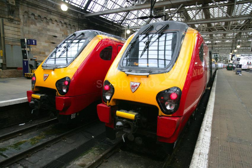 WY3Q6913 Two New Virgin Trains Glasgow Central