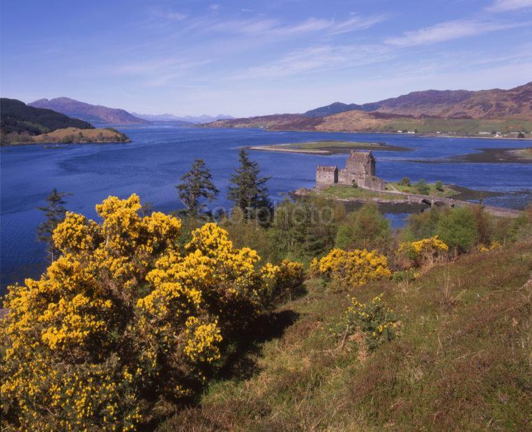 Springtime View Of Eilean Donan Castle Loch Duick Towards Skye