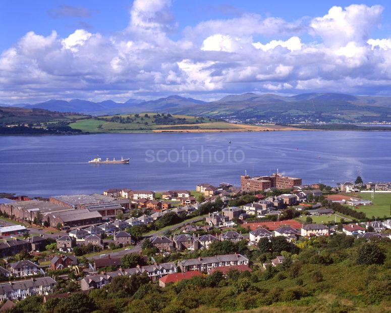 The Firth Of Clyde From Lylle Hill Greenock