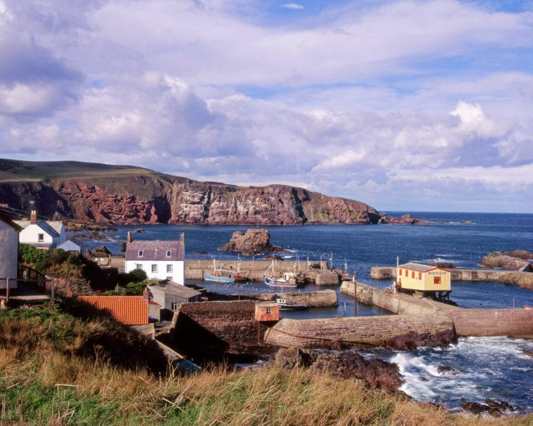 St Abbs Harbour And Cliffs Berwickshire