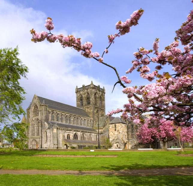 Paisley Abbey In Spring Vertical