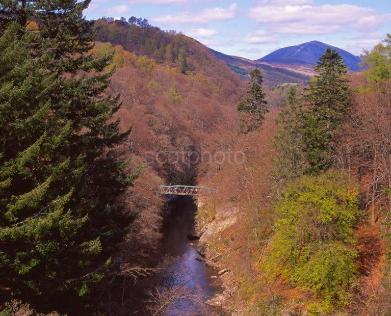 A Springtime View Towards The Famous Pass Of Killiecrankie Near Pitlochry Perthshire