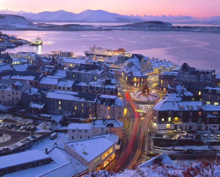Christmas View Of Oban