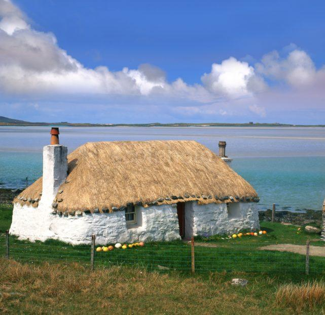 Thatched Croft Malacete Vallay Stran N Uist Outer Hebrides