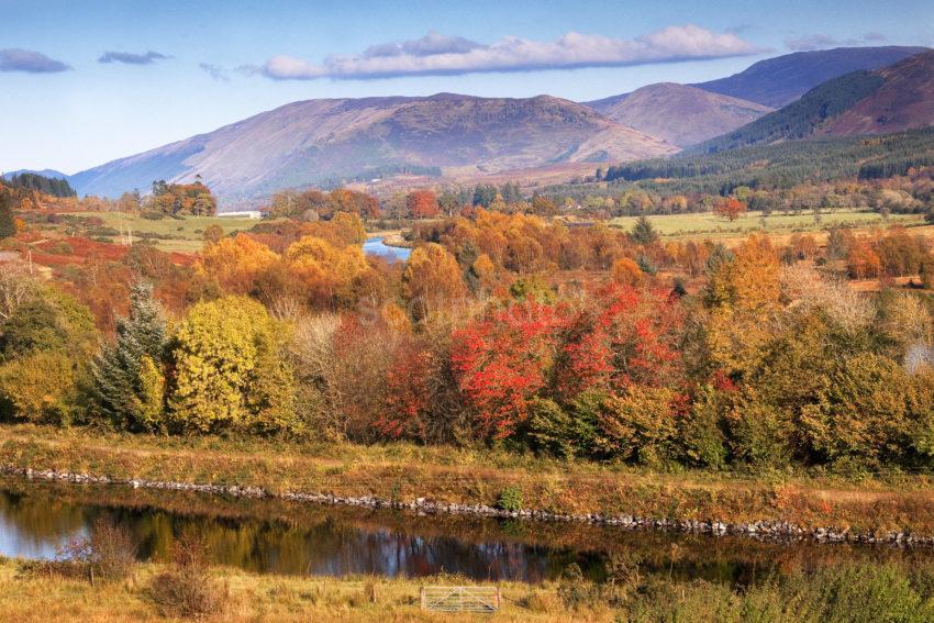 Autumn View Towards The Caledonian Canal