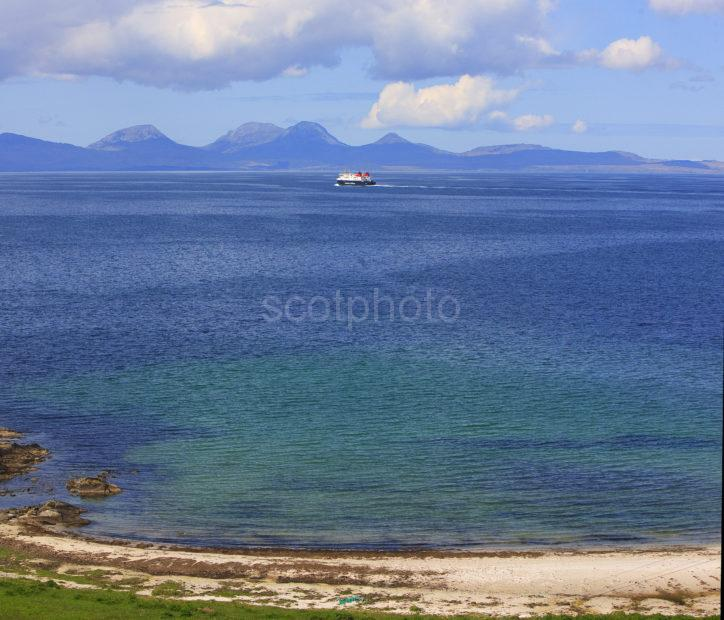 MV Finlaggan With Paps Of Jura From Kintyre