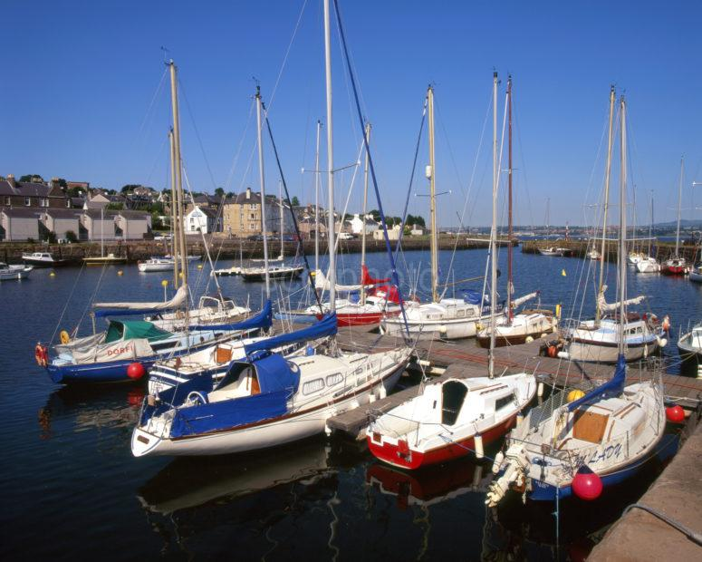 Tayport Harbour From Pier On NE Tip Of Fife Firth Of Tay
