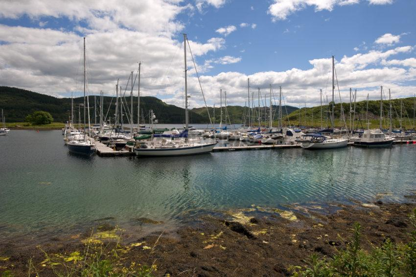 Yachts On Loch Craignish At Ardfern
