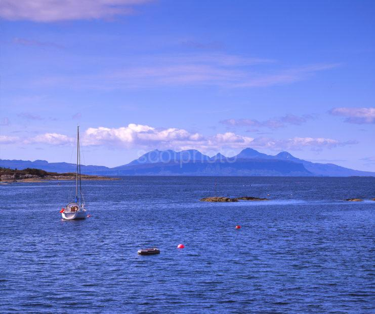 View Towards Eigg And Rhum From Glenuig Moidart West Highlands