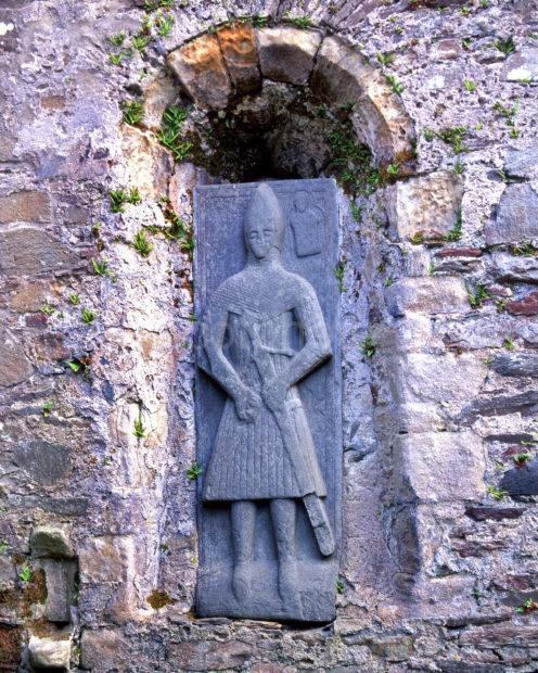 Sculptured Grave Stone At Kildalton Chapel