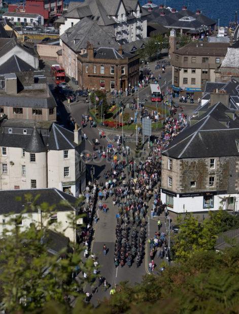 Games Day March Oban Argyll