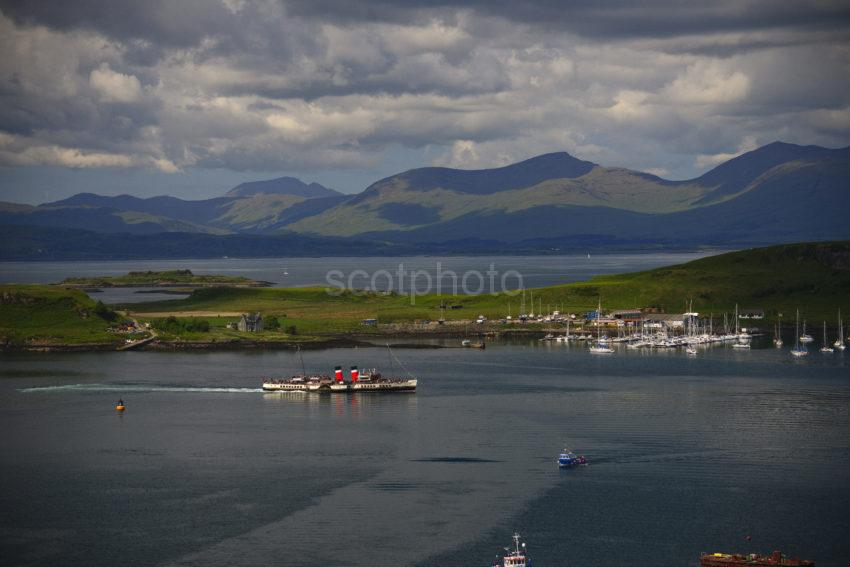 Great Shot Of PS Waverley With Island Of Kerrera