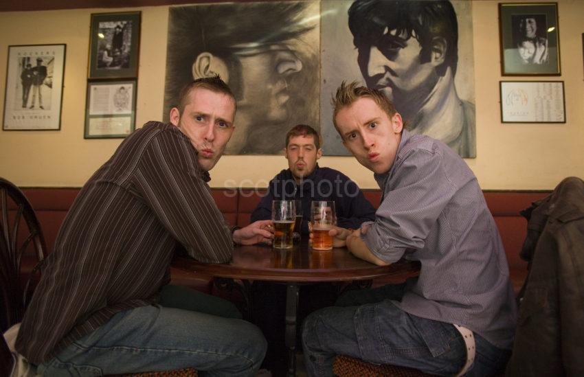 Three Scousers In Lennons Bar