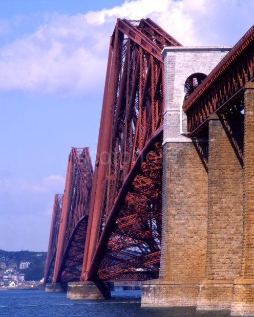 Close Up Of The Forth Railway Bridge From South Queensferry