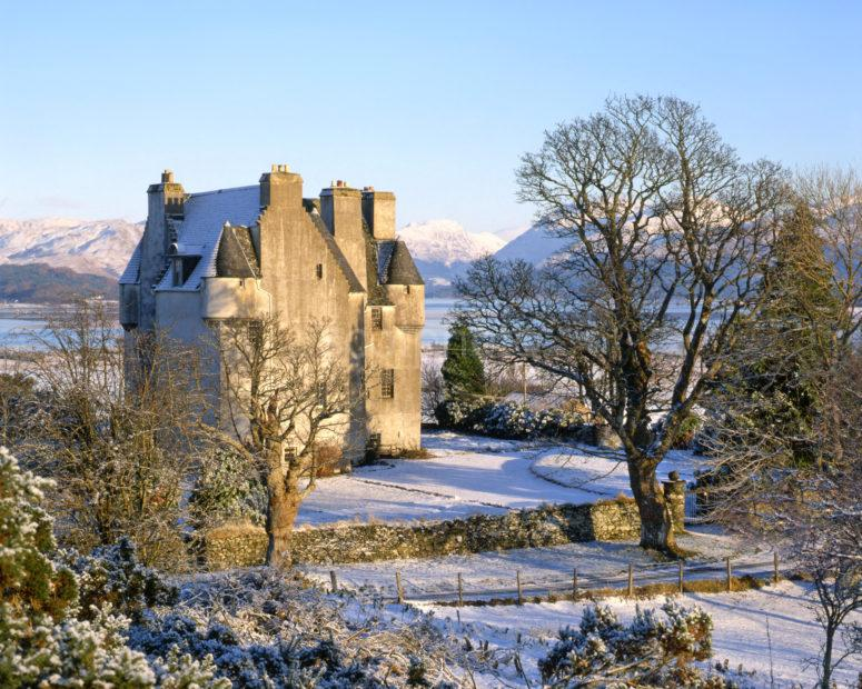 Barcaldine Castle In The Winter