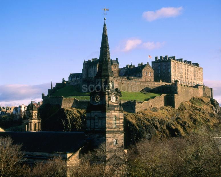 Edinburgh Castle And St Cuthberts Church Edinburgh