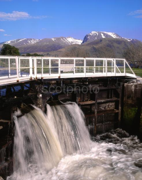 Ben Nevis From The Caledonian Canal At Corpach Lochaber Thomas Telford