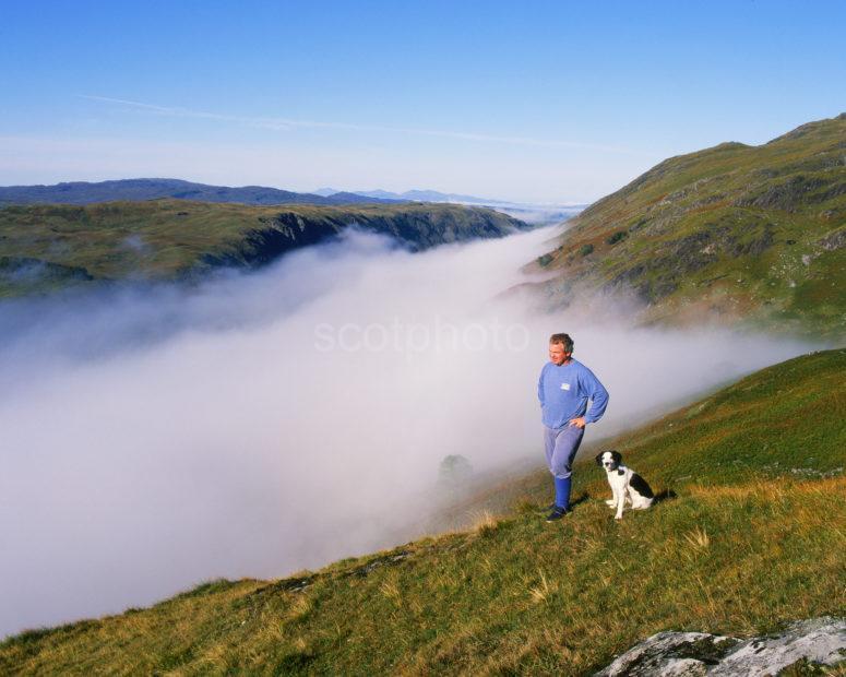 Misty Scene Overlooking Pass Of Brander From Ben Cruachan
