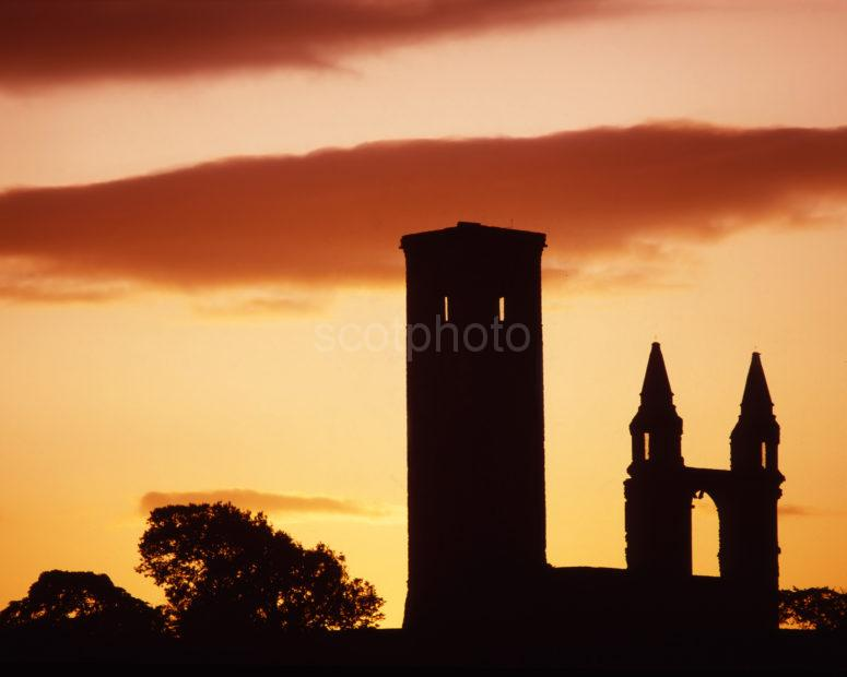 Sunset Silhouette St Andrews Cathedral