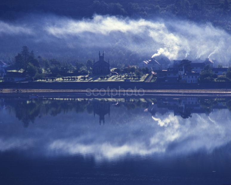 Smokey Reflections At Arrochar Village Loch Long Dumbartonshire