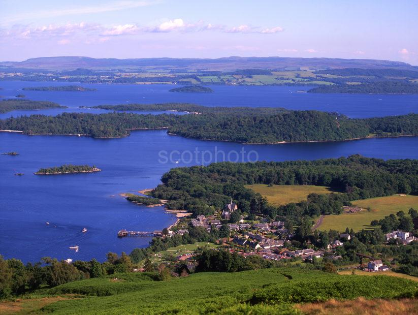 Great View From Above Luss Looking East Loch Lomond