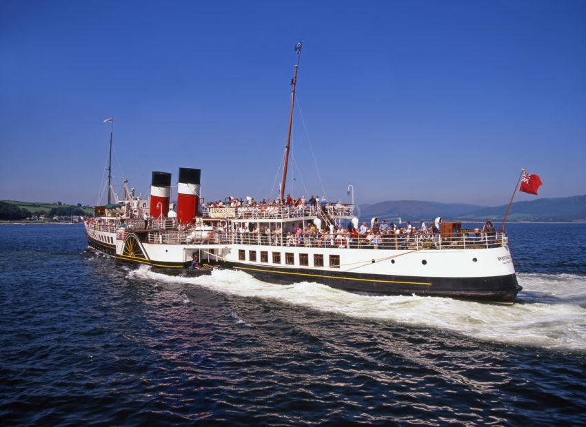 PS Waverley At Speed On The Clyde After Departing Rothesay