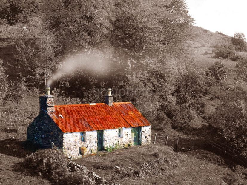 Scottish Croft In Autumn Argyll