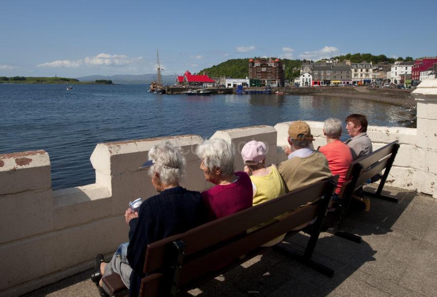 Tourists On Esplanade In Oban