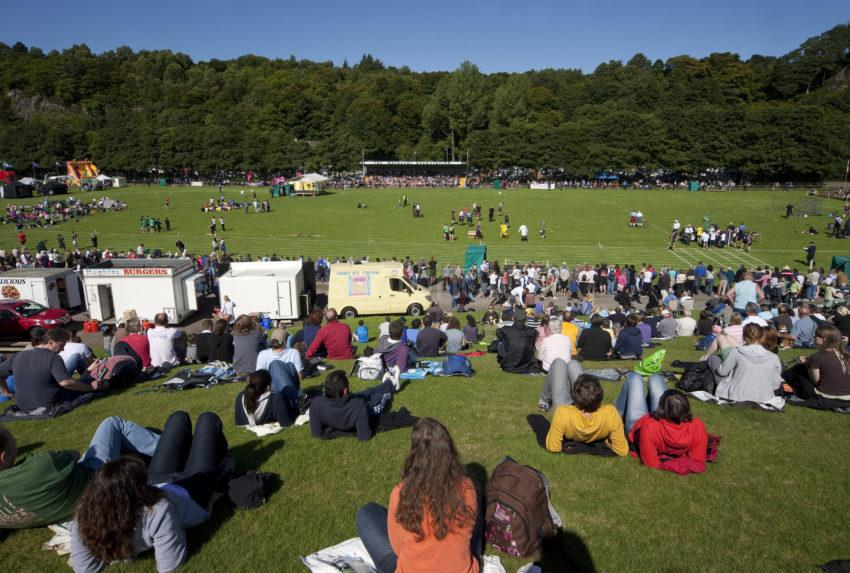Spectators At Highland Games