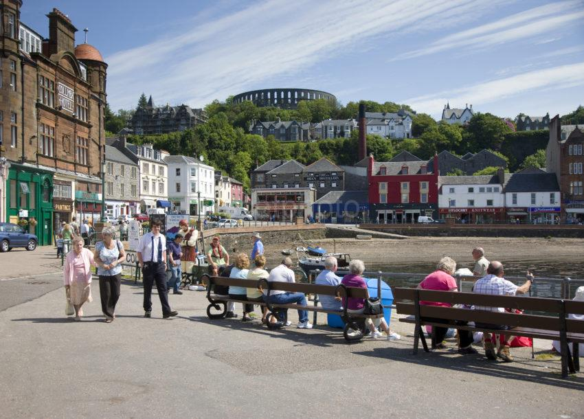 I5D6019 Summer Scene From North Pier Oban Argyll