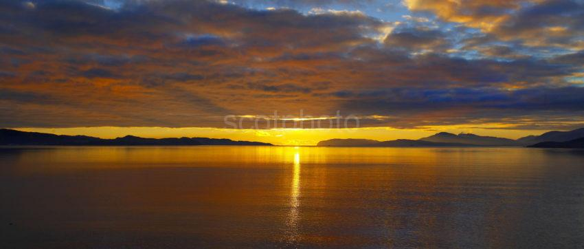 WY3Q7342 Sunset Panoramic Sound Of Mull