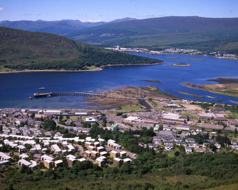 Looking Down Onto Fort William And Loch Linnhe From Cow Hill Lochaber