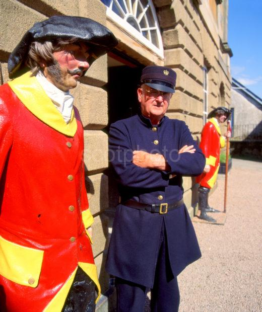 Guards At Inveraray Jail With Jail Keeper