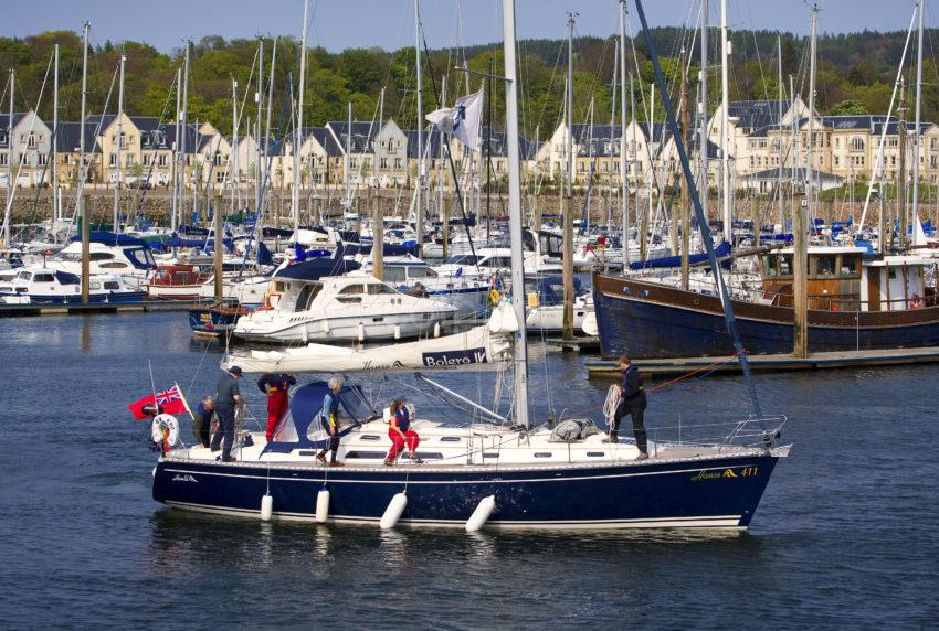 Yacht Arrives In Kip Marina Renfrewshire