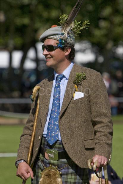 The Duke Of Argyll Enjoying The Games