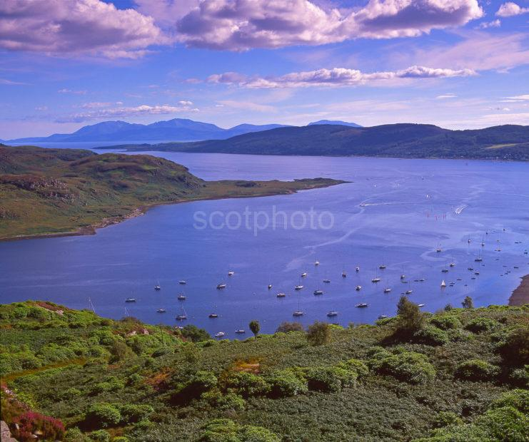 View Across The Kyles Of Bute Towards The Island Of Arran Argyll
