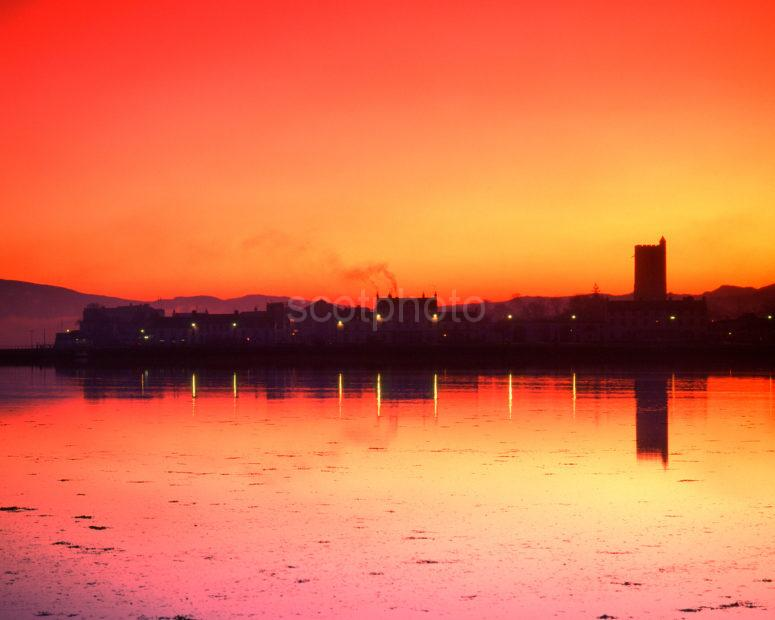 Inveraray Town Loch Fyne Sunset Afterglow