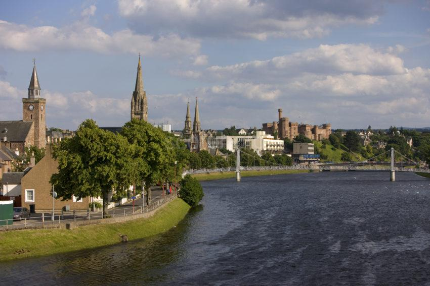 0I5D9965 Towards City Of Inverness From River Ness Highlands