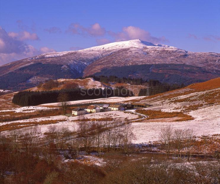 Winter View Looking From Glen Loy Great Glen West Highlands